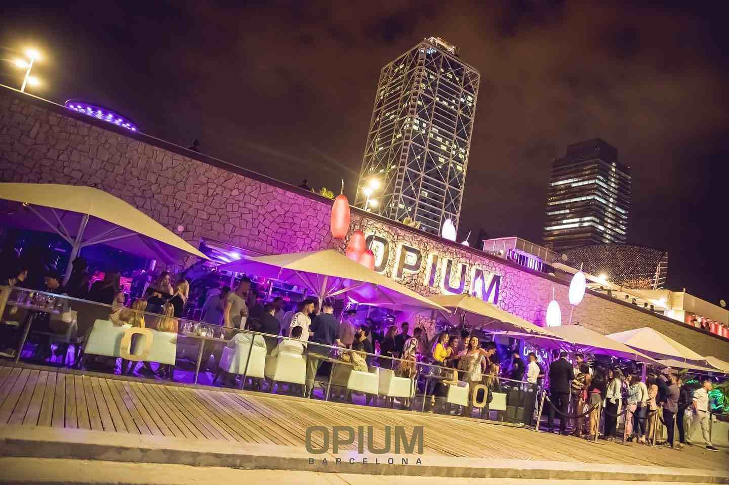 opium party lights people